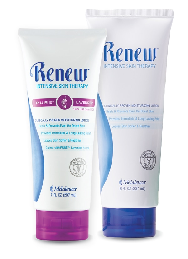 Melaleuca Renew® Lotion now available in 8 oz. tube and Lavender Pure® Essential Oil 7oz.