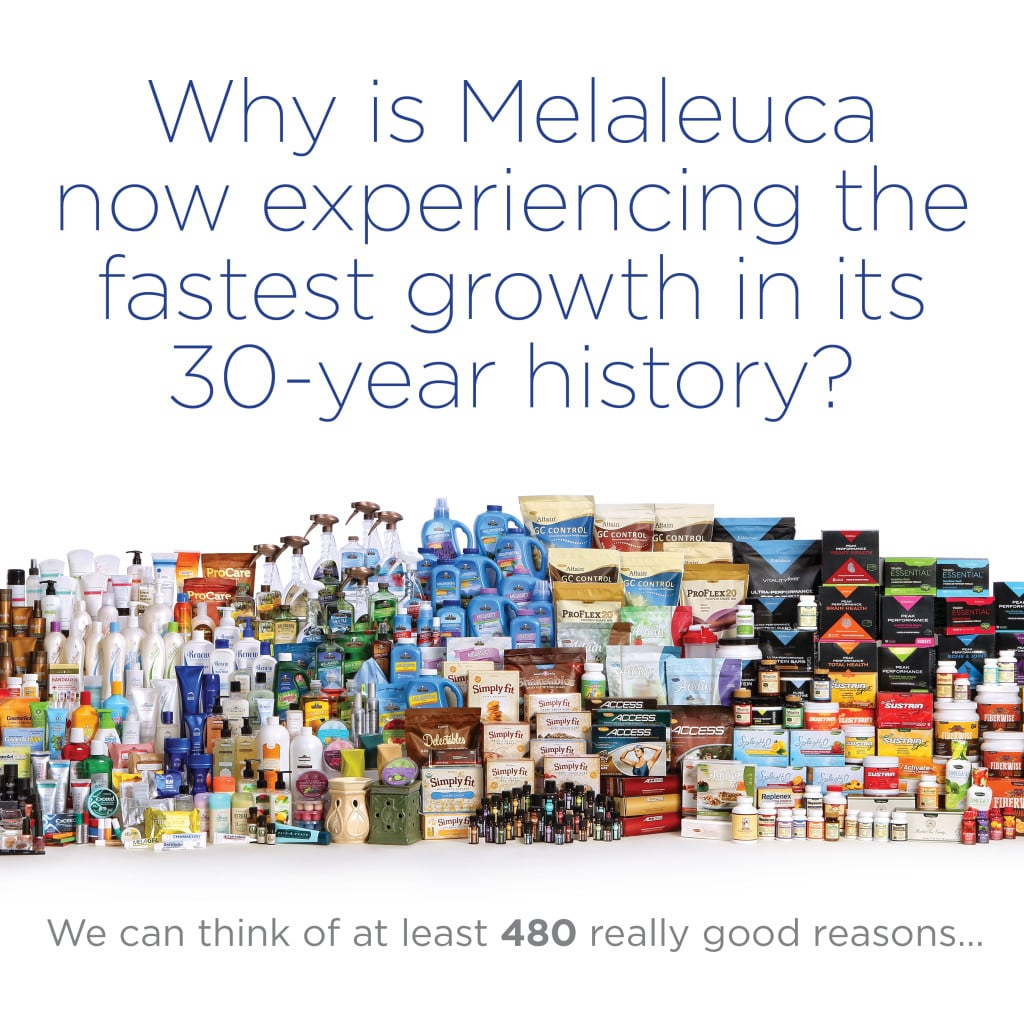 480 Really Good Reasons why Melaleuca is Growing
